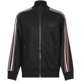 《セール開催中》ROBERTO CAVALLI メンズ スウェットシャツ ブラック 46 コットン 80% / ナイロン 20% / ポリウレタン