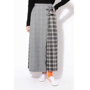 ローズバッド(ROSE BUD)/チェックプリントプリーツスカート