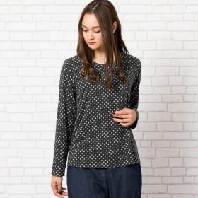 [マルイ] [大きいサイズ/L・LL]あったかストレッチスウェードドットプリントTシャツ/ピサーノ(PISANO)