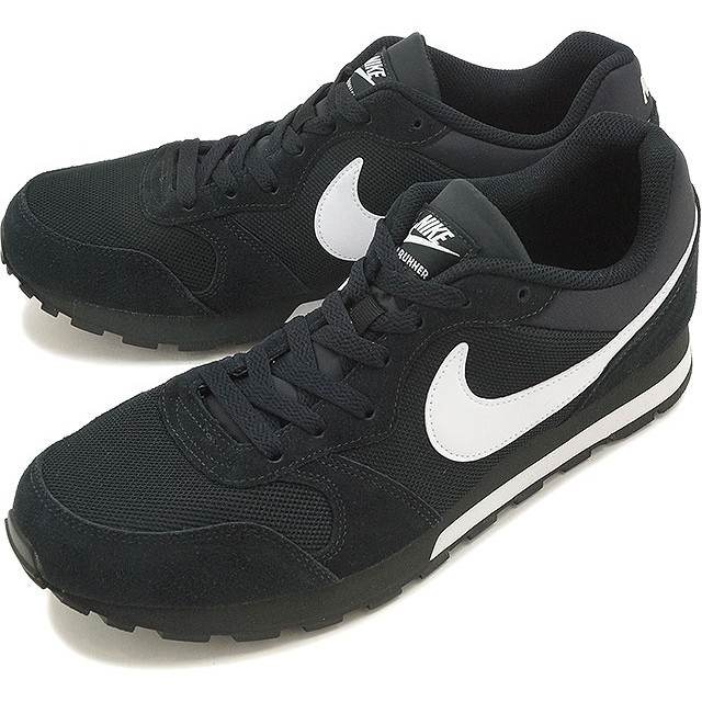 NIKE ナイキ スニーカー 靴 MD RUNNER 2 ナイキ ミッド ランナー 2 ブラック/ホワイト/アンスラサイト (749794-010 HO16)【日本正規品】