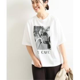 (IENA/イエナ)paris photo Tシャツ◆/レディース ホワイトB 送料無料