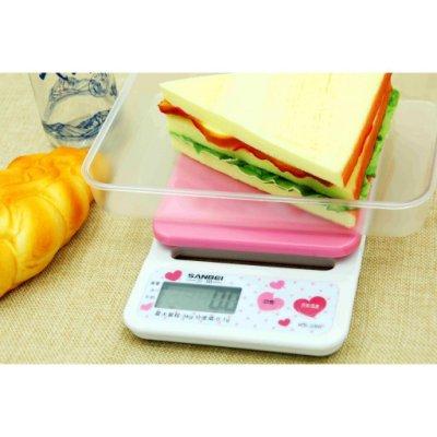 粉紅色液晶電子秤珠寶秤料理秤茶葉秤廚房秤高準度3kg/0.1g口袋秤掌上秤磅秤秤麵粉麵粉秤烘培秤