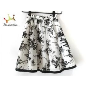 ジャスグリッティー JUSGLITTY スカート サイズ0 XS レディース 美品 白×黒 花柄 新着 20190905