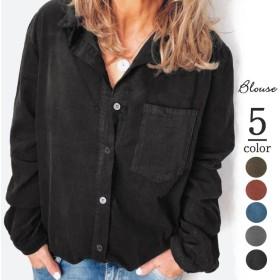 2019秋の服/新型/婦人服/コーデュロイ/厚手の長袖の上着とシャツの上着
