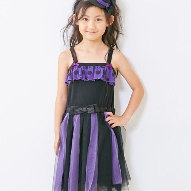 ハロウィン。ドレス2点セット(ドレス+ヘアアクセサリー)(女の子 子供服) ワンピース
