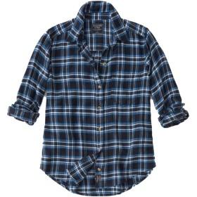 [Abercrombie & Fitch(アバクロンビーアンドフィッチ] アバクロ レディース フランネル チェックシャツ ネルシャツ ロゴパッチ ネイビー Mサイズ [並行輸入品]