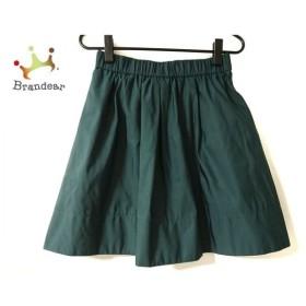 ニジュウサンク 23区 スカート サイズ36 S レディース 美品 ダークグリーン ウエストゴム 新着 20190905