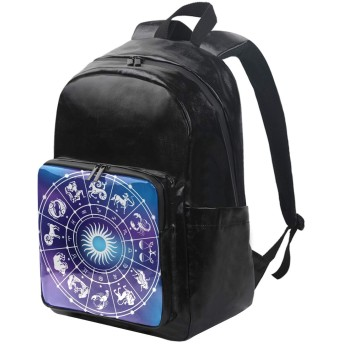ユサキ(USAKI) リュック 星座 ブルー リュックサック 大容量 軽量 メンズ レディース 高校生 通学 通勤 旅行 プレゼント対応