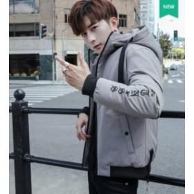 フード付き 厚手 人気メンズファッション 冬季著 ビッグサイズダウンジャケ アウターコート 韓國スタイル上著厚く綿服 通
