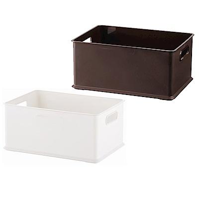 完美主義 塑膠收納盒4/1款-2入(2色)-26x19x12cm