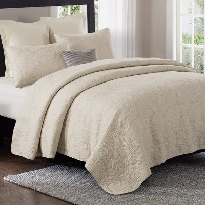 (溫暖紓壓)美式純棉棕梠葉壓紋三件套預購七天