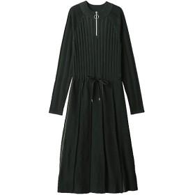 <PAMEO POSE/パメオポーズ> Pleated Knit Dress ブラック 【三越・伊勢丹/公式】