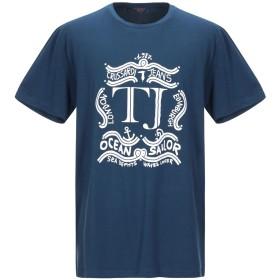 《期間限定セール開催中!》TRUSSARDI JEANS メンズ T シャツ ブルー L コットン 95% / ポリウレタン 5%