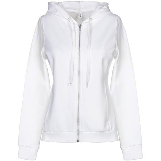 《期間限定セール開催中!》MOSCHINO レディース スウェットシャツ ホワイト XS コットン 95% / ポリウレタン 5%