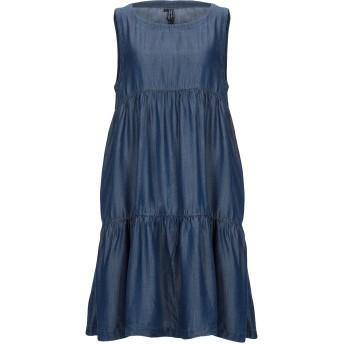 《セール開催中》AVANTGAR DENIM by EUROPEAN CULTURE レディース ミニワンピース&ドレス ブルー XS テンセル 100%
