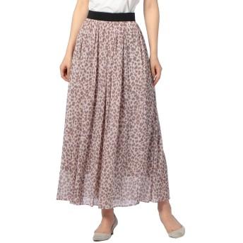 (ノーリーズ ソフィー) NOLLEY'S sophi レオパードギャザースカート ML706005 38 ブラウンベージュ系3