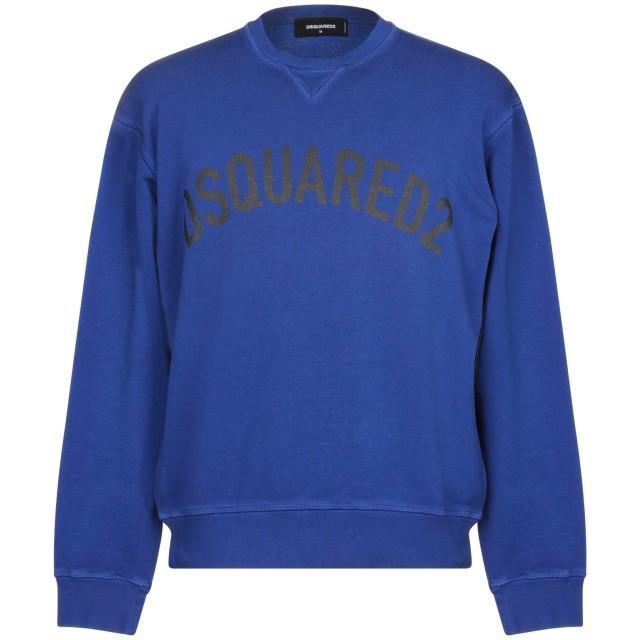 《セール開催中》DSQUARED2 メンズ スウェットシャツ ブルー XS コットン 100% / ポリウレタン