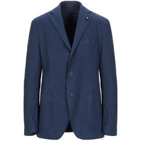 《セール開催中》LARDINI メンズ テーラードジャケット ブルー 52 コットン 100%