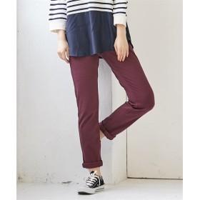 【カットソー素材で良く伸びる】ゆるフィットスキニーパンツ (レディースパンツ)Pants, 子, 子