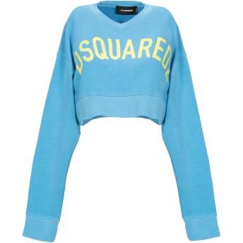 《期間限定セール開催中!》DSQUARED2 レディース スウェットシャツ アジュールブルー XS コットン 100% / ポリウレタン