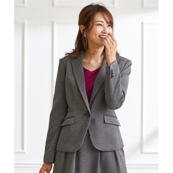 カルゼニットテーラードジャケット(上下別売)【レディーススーツ】 【レディーススーツ】通勤・社会人・リクルートスーツ,women's suits