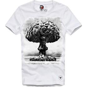 E1SYNDICATE(イーワンシンジケート)プリント フォト tシャツ e1-brain-dead (XS)