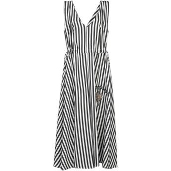 《セール開催中》SHIRTAPORTER レディース 7分丈ワンピース・ドレス ブラック 38 ポリエステル 100%