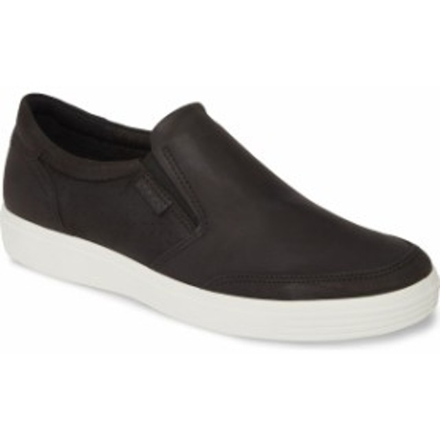 エコー メンズ スニーカー シューズ ECCO Soft 7 Casual Sneaker (Men) Black/Black