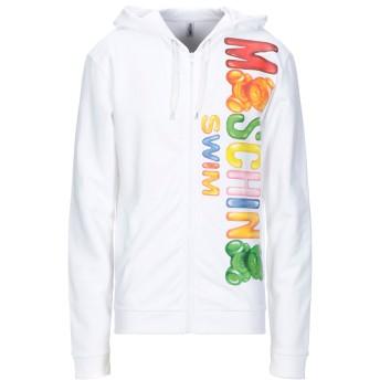 《9/20まで! 限定セール開催中》MOSCHINO メンズ スウェットシャツ ホワイト XS コットン 100%