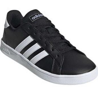 アディダス ADIDAS GRANDCOURT K [サイズ:22.0cm] [カラー:コアブラック×ランニングホワイト] #EF0102 靴
