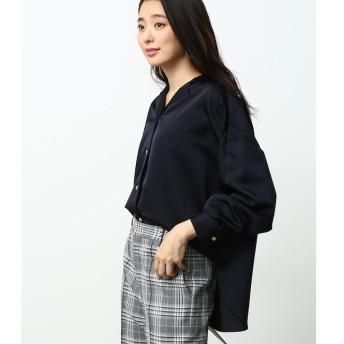【ロペ マドモアゼル/ROPE madmoiselle】 サテンドルマンスリーブシャツ