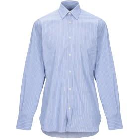 《期間限定セール開催中!》LES COPAINS メンズ シャツ アジュールブルー 39 コットン 72% / ナイロン 26% / ポリウレタン 2%