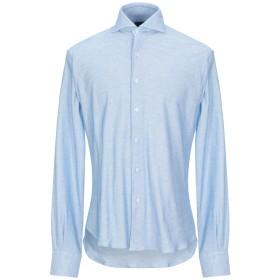《期間限定セール開催中!》ORIAN メンズ シャツ アジュールブルー 38 コットン 100%