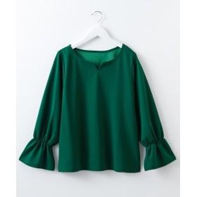 【ブラウス見えシリーズ】キャンディスリーブキーネックカットソープルオーバー (Tシャツ・カットソー)(レディース)T-shirts
