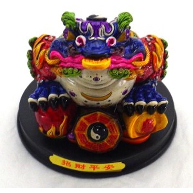 風水グッズ 風水 樹脂製ラッキーカラー「三脚蛙」 風水 龍の置物  置物 開運祈願 金運祈願