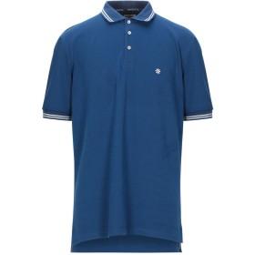 《セール開催中》BAGUTTA メンズ ポロシャツ ブルー XL コットン 94% / ポリウレタン 6%