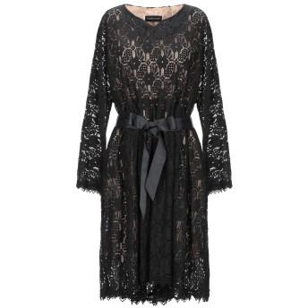 《セール開催中》VANESSA SCOTT レディース ミニワンピース&ドレス ブラック S ポリエステル 50% / コットン 30% / ナイロン 20%