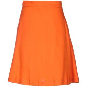 《セール開催中》L' AUTRE CHOSE レディース ひざ丈スカート オレンジ 38 麻 70% / テンセル 28% / ポリウレタン 2%