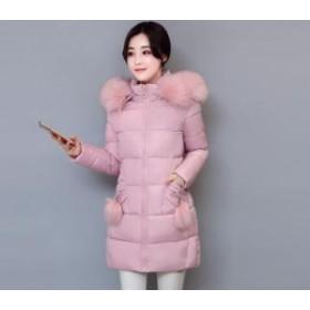ファー アウターコート 厚手 ビッグサイズ フード付き ロングコート ロング丈 人気 ダウンジャケット 通勤 レディース 冬季著