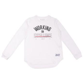 【Super Sports XEBIO & mall店:スポーツ】ジュニア SC30 TECH STACK LOGO 長袖Tシャツ #1346816 WHT BK