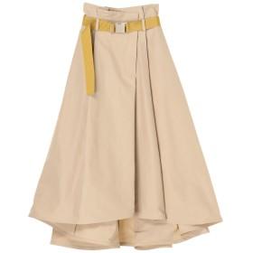 UN3D. イレギュラーボリュームスカート その他 スカート,ベージュ