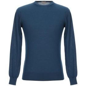 《セール開催中》CRUCIANI メンズ プルオーバー ブルー 46 カシミヤ 70% / シルク 30%