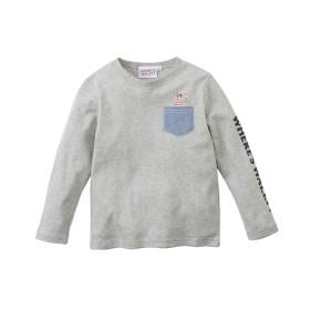 【ウォーリー】 綿100%長袖ポケット付Tシャツ(男の子 子供服) Tシャツ・カットソー