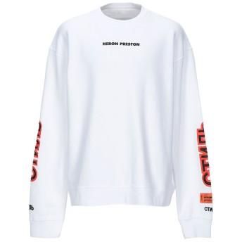 《セール開催中》HERON PRESTON メンズ スウェットシャツ ホワイト S コットン 100% / ポリウレタン