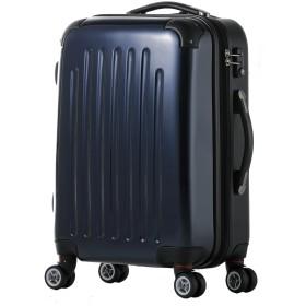 スーツケース/Wファスナー / 8輪キャスター / 拡張/TSAロック/ファスナー/ポリカーボネート / 03302-03402 (SM-03302, ネイビー/combi)