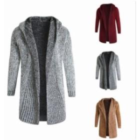 カーディガン メンズ ニットジャケット ニットセーター ニットカーディガン  アウター 秋冬 セーター 編み タートル 大きいサイズ