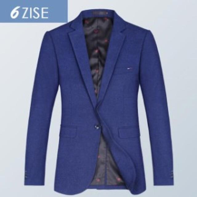無地 メンズジャケ 上品 高品質 テーラードジャケ ビジネス フォーマル 紳士服 ブレザー一つボタン