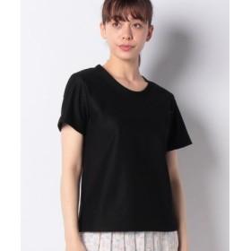 (allureville/アルアバイル)ハイトグレーステンジククルーTシャツ/レディース ブラック