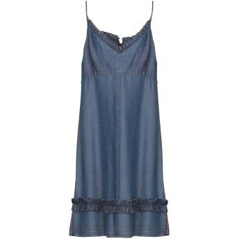 《セール開催中》EMMA & GAIA レディース ひざ丈ワンピース ブルー 38 指定外繊維(テンセル) 100%