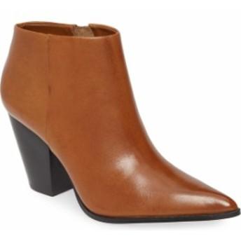 カルバンクライン レディース ブーツ・レインブーツ シューズ Calvin Klein Ignazia Siriana Bootie (Women) Russet Faux Leather